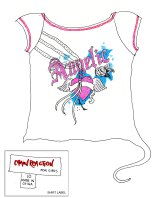 A sketch of the T-shirt found close to Angel's bones in Belanglo State Forest in 2010.