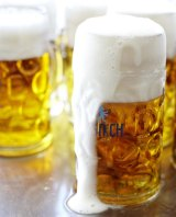 German beer sales could benefit from a free trade deal between the US and the EU, according to Angela Merkel.