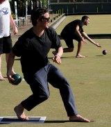 Barefoot bowling at Taren Point.