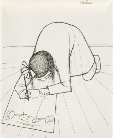John Brack. First Daughter (1955). Up for auction this month. Estimate $15,000-$20,000