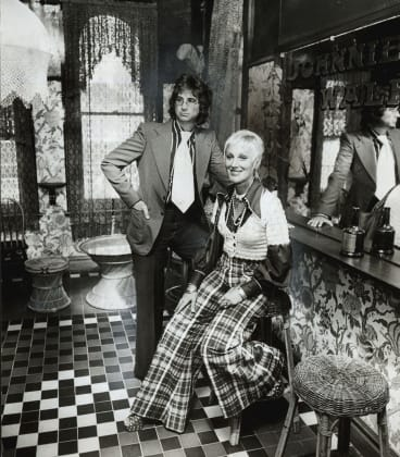 Snapshot in time: John and Merivale Hemmes in the bar of the Coffee Shop in Pitt Street, Sydney.