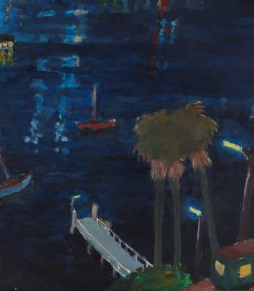 Lavender Bay Nocturne by Tom Carment, c1975.