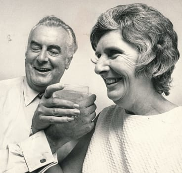Just the two of us: Gough Whitlam with wife Margaret in December 1972.