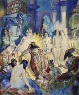 """Norman Lindsay's 1934 Belshazzar watercolour is part of the Howard Hinton Collection. """"The collection provides an invaluable snapshot of the vibrant art community of the era."""""""