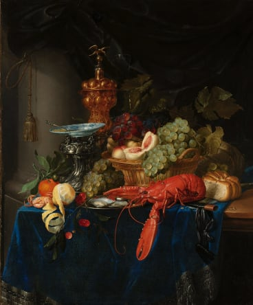 Pieter de Ring's Still Life with Golden Goblet (1650-60).