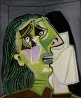 Weeping woman, 1937, by Pablo Picasso, oil on canvas, 55cm x 46cm. Purchased by donors of The Art Foundation of Victoria, with the assistance of the Jack and Genia Liberman family.