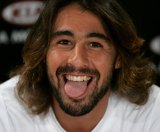 Baghdatis at the Australian open in 2006.