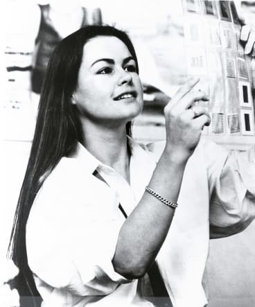 Lisa Wilkinson, photographed at <i>Dolly</i> in 1984, was the magazine's youngest-ever editor.