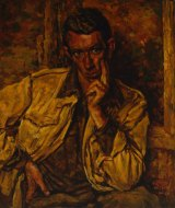 Eric Smith's <i>Self portrait</I> from 1944 when he was still an amateur painter.