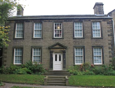 Haworth parsonage, home of the Brontes.