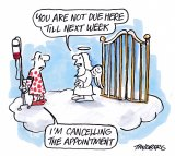 Tandberg's black humour has been used to great effect on his own situation.