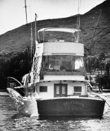 """The 55-foot yacht Splendour, belonging to actor Robert Wagner and his wife, actress Natalie Wood, near where rescuers found the body of Wood, an apparent drowning victim. Investigators are now calling Wagner a """"person of interest"""" in the 1981 death of Wood."""
