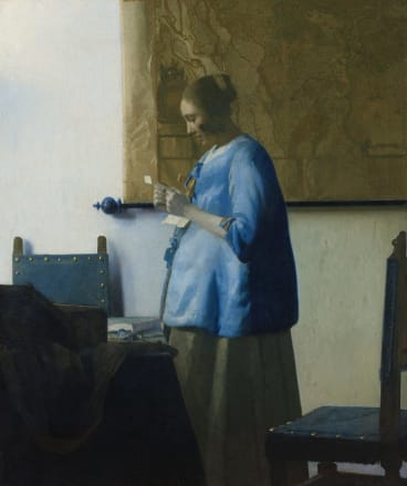 Johannes Vermeer's Woman Reading a Letter (1663).