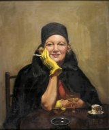 Esther Paterson's 1938 oil on canvas <i>The Yellow Gloves</i>.