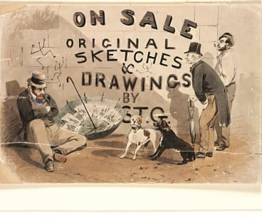 On Sale, Original Sketches and Drawings by STG, c.1870, watercolour, State Library of New South Wales.