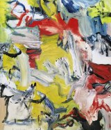 """Willem de Kooning's """"Untitled XXI,"""" also estimated at between $US25 million and $US35 million."""
