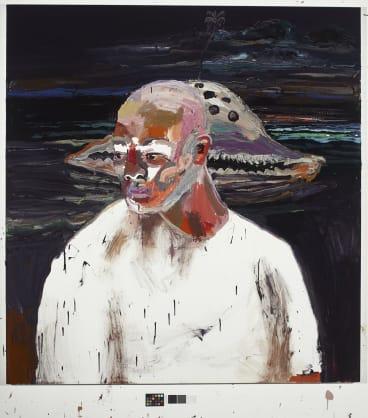 "Artist Ben Quilty's painting of his friend, student, and ""Bali nine'' inmate, Myuran Sukumaran."