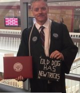 Michael Vaudreuil graduated from the same college he cleaned at night.