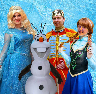 The cast of the Frozen tribute show, on at Southern Cross Club, Woden.