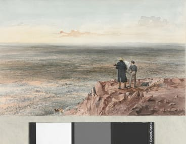 Country NW of Tableland, by S.T. Gill, c.1846, watercolour, National Library of Australia.