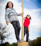 Xiuhtezcatl Martinez, with his younger brother.