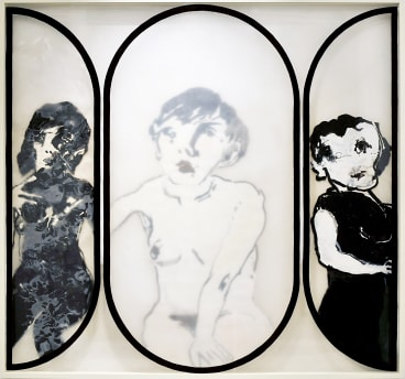 Mirror No.10 Dulux on multi-layered perspex and Indian Ink on paper on perspex 1976 153 x 163 x 9cm.