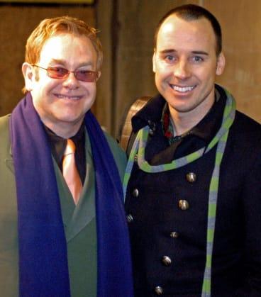 Elton John and his husband David Furnish in Venice.
