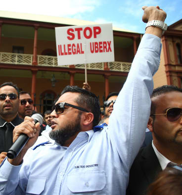 Earlier in September, taxi drivers gathered at NSW State Parliament to protest against Uber. There have been demonstrations around the globe.