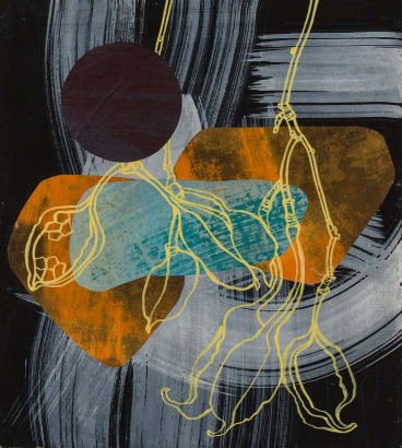 Yellow pods and purple moon, Julie Bradley, at Form Studio and Gallery
