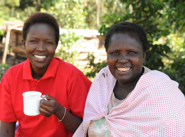 """""""I didn't want her to have my life,"""" says Anna Ntaiya (at right) of her daughter Kakenya (left)."""