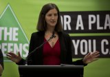 Fighting back: Greens candidate for Melbourne, Ellen Sandell, at the launch.