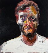 Ben Quilty's Self-portrait after Afghanistan, 2012.