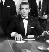 Sean Connery as James Bond at the baccarat table in Dr No   Diamonds Are Forever (1971)