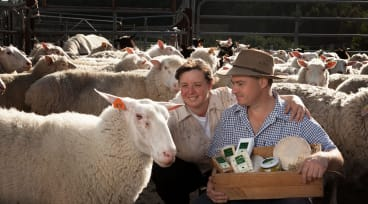 Burke and Bronwyn Brandon make cheese on their beautiful farm 15 minutes' drive south of Loch.