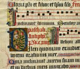 Detail of a large choir psalter leaf produced in northern France/Flanders in about 1500.