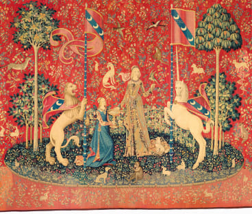"""""""Taste"""" from The Lady and the Unicorn series, c1500"""