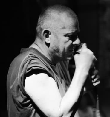 Blues singer Chris Wilson.