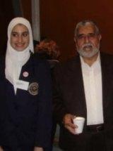 Lamisse Hamouda with Omar Hallack during her school days at Al Taqwa .