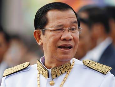 Cambodia's Prime Minister Hun Sen.