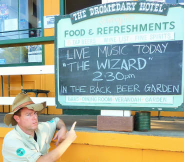 The appearance of The Wizard adds to the magic of Central Tilba.