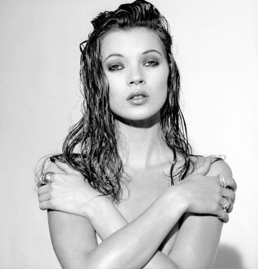 Kate Moss in 1992, early in her career.
