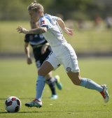 Melbourne City player-coach Jess Fishlock is hoping to make history on Sunday.