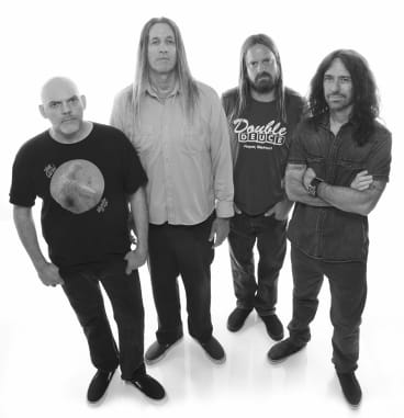 """Fu Manchu: """"We've always got riffs so we've always got something to work on,'' says vocalist, guitarist and founding member Scott Hill, second from left."""