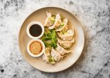 The hand-made dumplings at the Shelter Shed restaurant at the Queenscliff Hotel.
