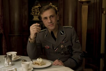 Christolph Waltz as Col Hans Lander in <i>Inglourious Basterds</i>.