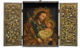 A portable altarpiece  from the late 16th, early 17th century.