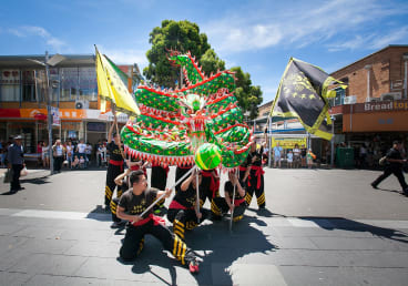 Celebrate the Moon Festival with food, souvenirs and live entertainment.