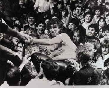 Fans show their adoration for Jimmy Barnes in a Last Stand concert in 1983.