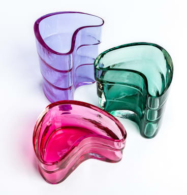 Elizabeth Kelly: Mould-blown and polished glass.
