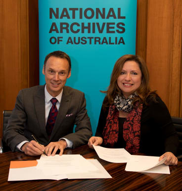 National Archives Director-General David Fricker and Assistant Director-General Teressa Ward.